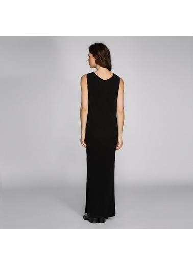 Vekem-Limited Edition Yırtmaçlı Uzun Elbise Siyah